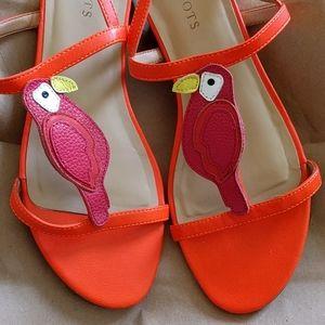 Talbot's Orange Keri Parrot Sandals